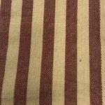 Burgundy & Beige Striped