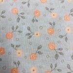 Peach Flowers on Gray