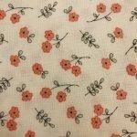 Peach Flowers on Beige