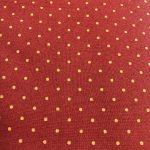 Red with Gold Dots