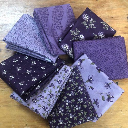 purple fat quarter bundle