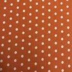 Cream Dots on Orange