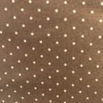 Cream Dots on Brown