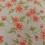 Pink Flowers on Brown Checkered Pattern