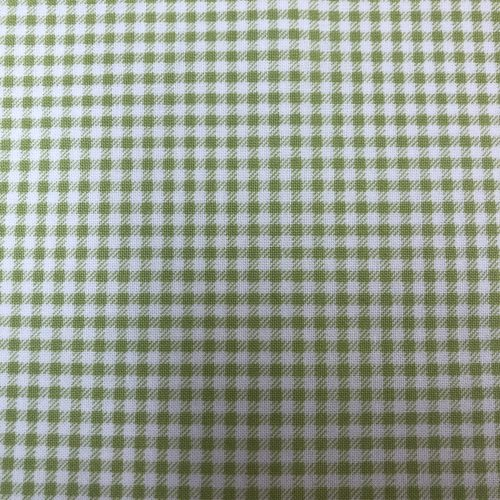 green and white checked fabric
