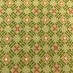 Green & Peach Leaves Pattern